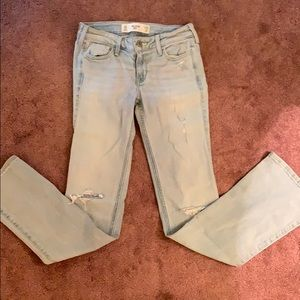 Hollister boot cut jeans size 0s light blue